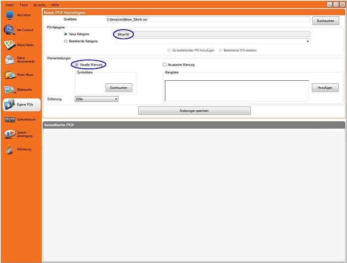 ▷ Mio Moov 500 update  Speedcam for your maps  Download